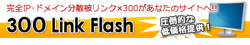 300 Link Flash (SEO対策用被リンク×300)
